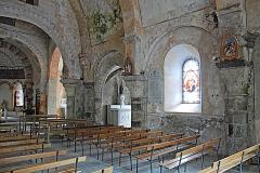 Eglise Saint-Etienne - Deutsch: Dorfkirche Chambon-sur-Lac, Schiff, Südwand, Joche 2-3 u. Vierung