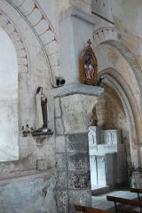 Eglise Saint-Etienne - Deutsch: Dorfkirche Chambon-sur-Lac, Schiff, Nordwand, zw. Jochen 2 u. 3