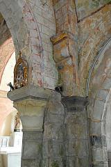 Eglise Saint-Etienne - Deutsch: Dorfkirche Chambon-sur-Lac, Schiff, Südostecke