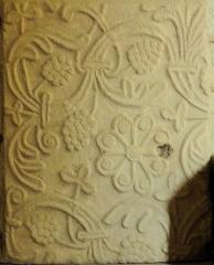 Ancien sanctuaire de Saint-Genes - Français:   Manglieu - Abbatiale Saint-Sébastien - Plaque tumulaire du VIe siècle déposée dans le narthex