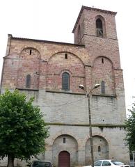 Ancien sanctuaire de Saint-Genes - Français:   Manglieu - Abbatiale Saint-Sébastien - Porche occidental avec le clocher