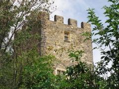 Ruines du château fort - Français:   Montaigut-le-Blanc, comm. du Puy-de-Dôme (France, région Auvergne). Château médiéval.