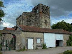 Eglise abbatiale Saint-Pierre - Français:   Clocher de l\'abbatiale de Mozac vu du Nord-Ouest. Photo: Matthieu Perona - décembre 2004