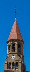 Eglise Saint-Nicolas - English: Bell tower of the Saint Nicholas Church of Nonette, Puy-de-Dôme, France