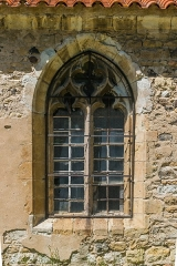 Eglise Saint-Nicolas - English: Window of the Saint Nicholas Church of Nonette, Puy-de-Dôme, France