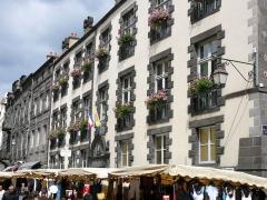 Hôtel de ville -  Riom - Hôtel de ville - Façade sur rue