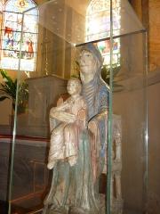 Eglise Sainte-Agathe - Français:   Reproduction de la vierge auvergnate du Louvre en bois polychromé (XIIe siècle)