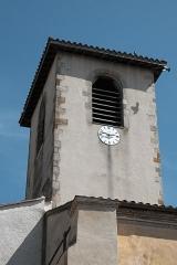 Eglise Sainte-Agathe - Deutsch:   Katholische Pfarrkirche Sainte-Croix, auch Sainte-Agathe, in Ris im Département Puy-de-Dôme (Auvergne-Rhône-Alpes), Turm