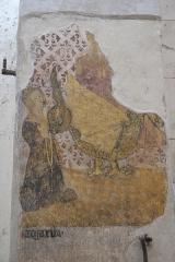 Eglise Sainte-Agathe - Deutsch:   Katholische Pfarrkirche Sainte-Croix, auch Sainte-Agathe, in Ris im Département Puy-de-Dôme (Auvergne-Rhône-Alpes), Wandmalerei, heilige Margareta