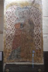 Eglise Sainte-Agathe - Deutsch:   Katholische Pfarrkirche Sainte-Croix, auch Sainte-Agathe, in Ris im Département Puy-de-Dôme (Auvergne-Rhône-Alpes), Wandmalerei, Heimsuchung