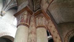 Eglise Saint-Limin (ou Saint-Martin) -  Chapiteau de l'église Saint-Martin de Thuret dans le Puy-de-Dôme.