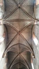 Eglise Saint-Limin (ou Saint-Martin) -  Plafond de la nef de l'église Saint-Martin de Thuret dans le Puy-de-Dôme.