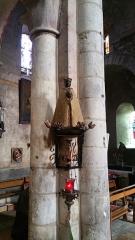 Eglise Saint-Limin (ou Saint-Martin) -  Statue d'une Vierge noire dans l'église Saint-Martin de Thuret dans le Puy-de-Dôme.