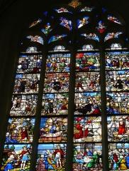Eglise Saint-Pierre - Vic-le-Comte - Sainte-Chapelle - Vitrail sud - Passion du Christ