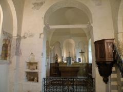 Château fort et église Saint-Jean du Marchidial - Français:   Champeix, comm. du Puy-de-Dôme (France, région Auvergne). Château du Marchidial, chapelle castrale Saint-Jean, vue intérieure (chœur).