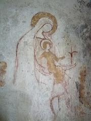 Eglise de Bousselargues - Français:   Représentation d\'une vierge à l\'enfant dans le cœur de l\'église Saint-Sébastien de Bousselargues, Blesle (43) France
