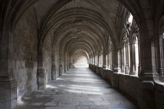 Ancienne abbaye de la Chaise-Dieu - English:  Vaul of the North aisle of the cloister.