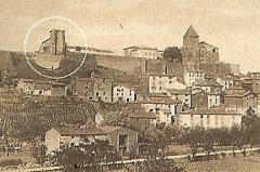 Prieuré - Deutsch: Chanteuges von NW, altes_Foto_vor_1896
