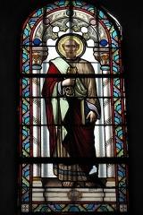 Eglise Saint-Pierre - Deutsch: Katholische Kirche Saint-Pierre in Cistrières im Département Haute-Loire (Auvergne-Rhône-Alpes/Frankreich), Bleiglasfenster; Darstellung: Apostel Petrus