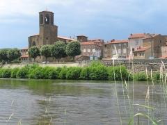 Eglise Saint-Gal - Langeac (Haute-Loire - France), l'Allier et la collégiale Saint-Gal.