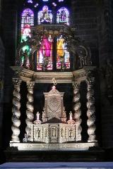 Eglise Saint-Gal - English: Langeac. Church of Saint Gal. Interior. Choir altar piece.
