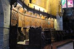 Eglise Saint-Gal - English: Langeac. Church of Saint Gal. Interior. North side of the choir stalls.