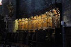 Eglise Saint-Gal - English: Langeac. Church of Saint Gal. Interior. South side of the choir stalls.