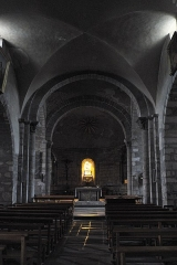 Eglise Saint-Géraud - Deutsch: Katholische Kirche Saint-Géraud in Lempdes-sur-Allagnon im Département Haute-Loire (Auvergne-Rhône-Alpes/Frankreich), Innenraum