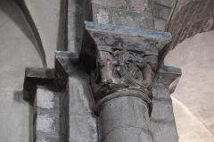 Eglise Saint-Géraud - Deutsch: Katholische Kirche Saint-Géraud in Lempdes-sur-Allagnon im Département Haute-Loire (Auvergne-Rhône-Alpes/Frankreich), romanisches Kapitell