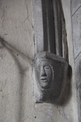 Eglise Saint-Géraud - Deutsch: Katholische Kirche Saint-Géraud in Lempdes-sur-Allagnon im Département Haute-Loire (Auvergne-Rhône-Alpes/Frankreich), Konsole