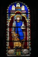 Eglise Saint-Géraud - Deutsch: Katholische Kirche Saint-Géraud in Lempdes-sur-Allagnon im Département Haute-Loire (Auvergne-Rhône-Alpes/Frankreich), Bleiglasfenster; Darstellung: Gerald von Aurillac