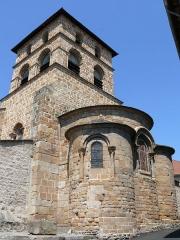 Eglise Saint-Jean-Baptiste - Français:   Retournac - Église Saint-Jean-Baptiste - Chevet et clocher