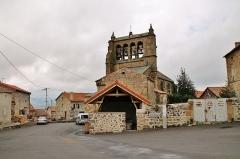 Eglise Saint-Haon - Français:   Le Lavoir et l\'église St Haon