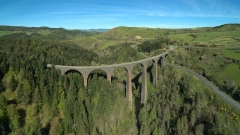 Viaduc de la Recoumène -  Le viaduc de la Recoumène proche de Monastier-sur-Gazeille.