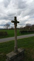 Croix dite Croix des Ages ou Croix de la Roi -  Arrière de la croix des Âges à Aurignat.