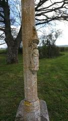 Croix dite Croix des Ages ou Croix de la Roi -  Croix des Âges à Aurignat, détail de la sculpture de saint André.