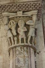 Eglise Saint-Georges - Église Saint-Georges de Bourbon-l'Archambault  Chapiteau de la nef  Les musiciens