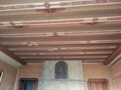 Château de Busset -  Plafond peint d'un salon du château de Busset