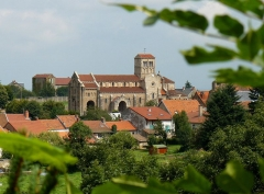 Eglise Notre-Dame - English: View over Châtel-Montagne (Allier, France)