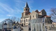 Eglise Sainte-Radegonde -  Cimetière de Cognat et église Sainte-Radegonde.