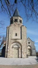 Eglise Sainte-Radegonde -  Façade de l'église Sainte-Radegonde de Cognat