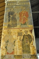 Eglise Saint-Léger - Fresque de saints.