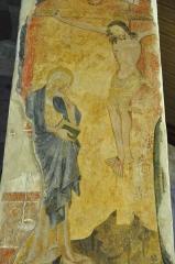 Eglise Saint-Léger - Nederlands: Fresque de Christ à la Croix