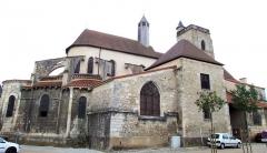 Eglise Sainte-Croix - Gannat - Église Sainte-Croix - Ensemble vu du chevet