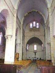 Eglise Saint-Gervais et Saint-Protais - Deutsch: Inneres der Kirche von Le Montet (Allier)