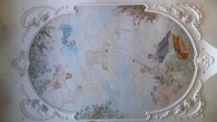 Grand Café -  Peinture de plafond au Grand café de Moulins (Allier), oeuvre d'Auguste Sauroy (probablement de 1898) représentant la légende de Gambrinus.