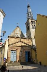 Eglise Sainte-Croix - Deutsch: Eglise Sainte-Croix de Saint-Pourçain-sur-Sioule:Eingang