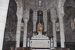 Eglise Sainte-Croix - Deutsch: Ste-Croix de Veauce, Chor aus Vierung, oberer Bereich