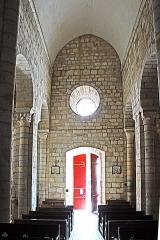 Eglise Sainte-Croix - Deutsch: Ste-Croix de Veauce, Mittelschiff, Westwand