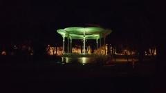 Kiosque du parc des Bourins -  Kiosque du parc des Bourins de nuit.